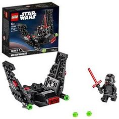 The LEGO Star Wars Kylo Ren's Shuttle Microfighter 75264 lets kids role-play as the Empire's evil Kylo Ren. Combine with other LEGO Star Wars sets for more out-of-this-world action! Minifigura Lego, Buy Lego, Lego Minecraft, Lego Ninjago, Legos, Star Wars Shuttle, Kylo Ren Shuttle, Lego Star Wars, Star Wars Set