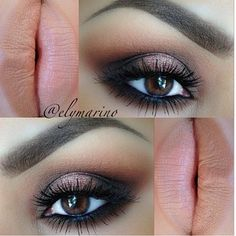 Warm and bronzed smoky eye paired with a nude lip This is pretty much my everyday look. I use the Naked 2 pallet everyday.