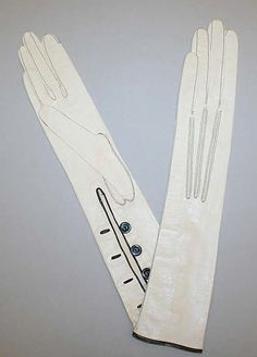 gloves 19th century | Gloves: early 20th century, French, leather. Marking: [imprint ...