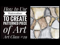A tutorial showing how to use watercolour to create a geometric abstract painting, with black and white detail. Materials Needed Watercolour paint and paper . Watercolor Techniques, Homeschool, Art Pieces, Youtube, Youtubers, Homeschooling, Artworks, Youtube Movies