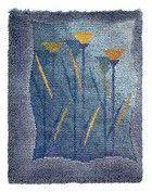 kultamalja-ryijy Rya Rug, Wool Rug, Rug Hooking, Textile Art, Carpet, Textiles, Blanket, Rugs, Crafts