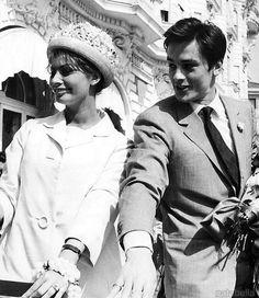 Sophia Loren and Alain Delon, Cannes, 1962