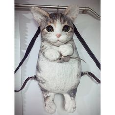Котик-рюкзачок изготовлю из натуральной шерсти . Так же есть видео МК для опытных валяльщиц Cat Backpack, Backpacks, Cats, Animals, Gatos, Animales, Animaux, Backpack, Animal