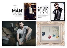 """""""Men Cave"""" by thevintagecinderella ❤ liked on Polyvore featuring men's fashion, menswear and MTLDecor"""