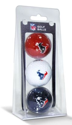 Houston Texans 3 Pack of Golf Balls