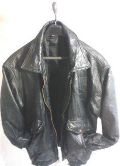 Vintage SKINS By TORA Black Leather Jacket, Mens Large ...