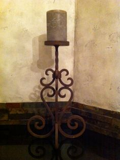 Wrought Iron Candle Holder by thdesign1 on Etsy,