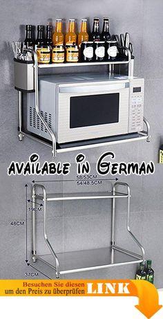 B073J99CL8 : Küche Lagerung Und Organisation Küche Regal Mikrowelle Ofen  Rack Ofen Doppelschicht Multifunktions Edelstahl Wandregal Regale Unter ...