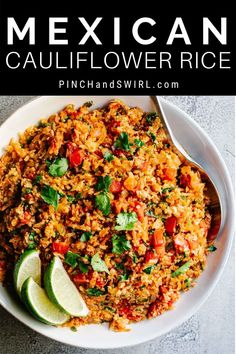 Party Side Dishes, Potluck Side Dishes, Mexican Side Dishes, Mexican Rice Recipes, Veg Dishes, Side Dishes Easy, Vegetarian Recipes, Healthy Recipes, Cauliflower Mexican Rice