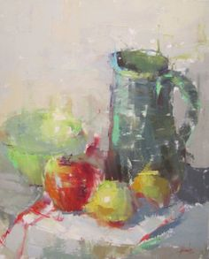 Barbara Flowers -Green Pitcher