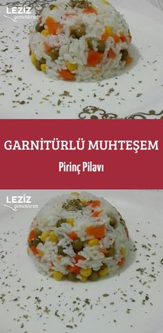 Rice Pilaf with Garnish – My Delicious Food - Salat Ideen Rice Recipes, Meat Recipes, Pasta Recipes, Baking Recipes, Famous Recipe, Cooking Turkey, Food Network Recipes, Food And Drink, Yummy Food