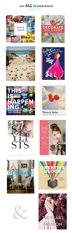 GIVEAWAY/ Holly + Chronicle Books: decorate with flowers | designlovefest http://www.designlovefest.com/2014/03/giveaway-holly-chronicle-books