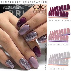 Purple is my all time favorite color! And this is an absolutely perfect look! #colorstreet #kolorfulnailsbykari