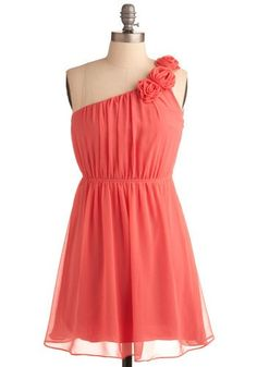 Coral Dress (bridesmaids)...but in medium blue. (Whoever has seen my room will know the color I mean)