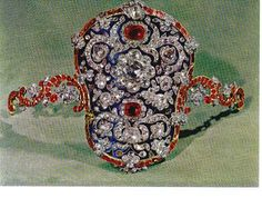 Jeweled Studded Armband, The jeweled armband shown in the picture and displayed in the Museum of the Treasury of National Iranian Jewels, was probably designed just before armbands fell out of fashion, around the middle of the 19th century and therefore does not show signs of wear and tear. Armbands were a fashionable item of jewelry used by the monarchs of Iran in the past.