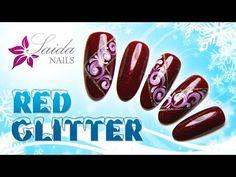 ROTE GLITZERNÄGEL | Winter-/X-Mas-Nailart (Saida Nails) - YouTube
