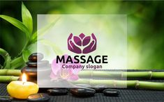 Massage logo by BekBlack on @creativemarket