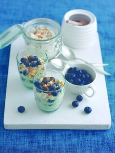 Blueberry Bircher muesli ...