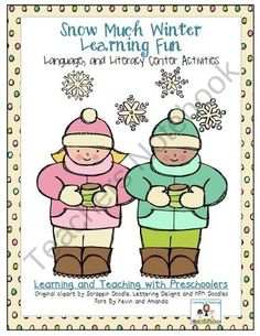 Snow Much Winter Learning Fun Language and Literacy Activities product from Teaching-Preschoolers on TeachersNotebook.com