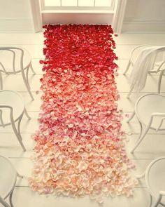 ombre petal aisle