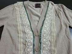 Tutorial: Custom Cardigan Sweater #cardigan #sewing #upcycle #tutorial #clothing