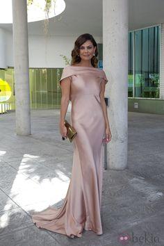 María José Suárez en la boda de Elisabeth Reyes y Sergio Sánchez con vestido de Cortana.