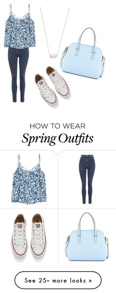 """spring outfit"" by celeste-joy on Polyvore featuring Topshop, Converse, Kate Spade and Kendra Scott"