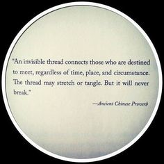 An Invisible Thread...story idea:  what if you were attached to two people?  Constantly being pulled the other way.