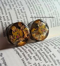 Pokemon Pikachu electroshock plugs sizes 10mm and above! For pair. on Etsy, $31.37