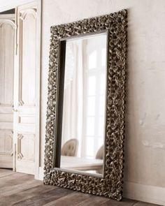 Mother-of-Pearl Floor Mirror | Floor mirror, Pearls and Budgeting