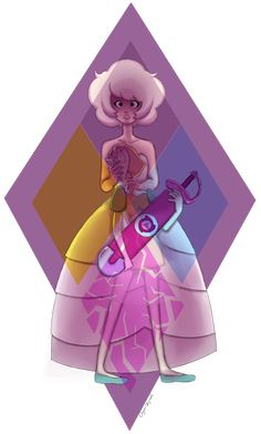 """In tribute of the new episode """"a single pale rose"""", I've drawn the visual representation of how I now see the relationship between pearl and Rose Diamond. I hate but love the new perspective on Rose..."""