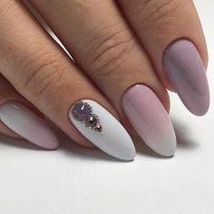 Perfect wedding manicure inspiration for every bride - Nailart - Cute Nails, Pretty Nails, My Nails, Acrylic Nail Designs, Nail Art Designs, November Nails, Nailart, Almond Acrylic Nails, Nails Only