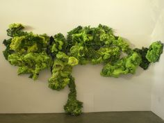 Anneliese Vobis art. I love this piece, it's like a moss vertical garden but with a more organic shape