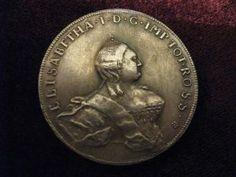 Монета 48 копеек серебром ЛИВОНЕЗ 1756 ЕЛИЗАВЕТА ПЕТРОВНА серебро имп. Россия
