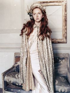 Lily Cole by Arthur Elgort for Vogue UK (November 2004)