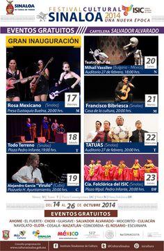 Festival Cultural Sinaloa 2014 Una Nueva Época, del 14 al 26 de Octubre en #SalvadorAlvarado