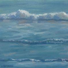 Jennifer Boswell Original Abstract Modern California Impressionist Surf Seascape Ocean Waves Oil Painting. $199.00, via Etsy.