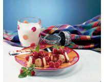 Mini Chocolate Chip Cheesecakes with Raspberry Sauce | Wisconsin Milk Marketing Board
