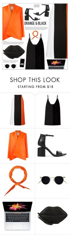 """""""Orange is the New Black"""" by makeupgoddess ❤ liked on Polyvore featuring Rosetta Getty, By Malene Birger, Maison Rabih Kayrouz, Alexander Wang, KAROLINA, Hermès, Oliver Peoples, Gunne Sax By Jessica McClintock and Givenchy"""
