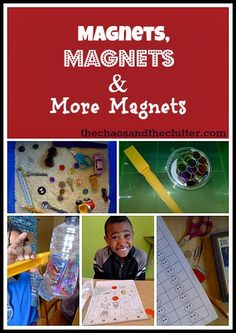 Magnets, magnets and more magnets! sensory bin and activities with worksheets