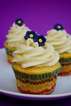 Interesting flavor for a cake.  Lemon Lavender Cupcakes! (our wedding cake flavor)