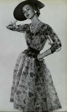 1954 Christian Dior  note the waist