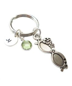 This Sterling Silver & Swarovski Crystal Monogram Sunglasses Key Chain is perfect! #zulilyfinds