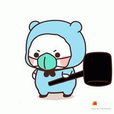 Cute Love Pictures, Cute Love Gif, Kawaii Drawings, Cute Drawings, Gifs, Little Panda, Dibujos Cute, Cute Doodles, Cute Chibi