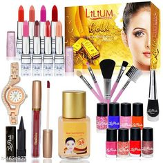Makeup Kits Premium Choice Makeup Kit Combo Product Name: Summer Vacation Combo Makeup Sets Pack of  25-C377 Product Type: Makeup Kit Combo  Product Description: Get an expert like professional touch with the Combo. The luminous silky formula gives a natural looking radiance to your skin. The products come in an amazing combination of shades that will add a perfect hint of color which will blend effortlessly with your look. This Combo Sets by copy is the All in one set that has all you need for a professional makeup each individual makeup is manufactured with high quality materials Package Contains: It Has 1 Pack Of Makeup Kit Combo Country of Origin: India Sizes Available: Free Size   Catalog Rating: ★4 (249)  Catalog Name: makeup kit Sensational Choice Makeup Kit Combo Vol 4 CatalogID_211442 C51-SC1245 Code: 716-1624927-3564