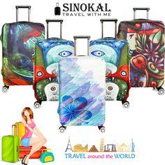 d60bbe69d9eca Seyahat Bavul Bagaj Koruyucu Kapak Spandex Elastik için Koruyucuları Kapsar  18-32 inç Tramvay Durumda