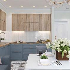 Какая кухня вам нравится больше 1, 2 или 3? #dom_tvoej_mechty_кухня Авто Kitchen Room Design, Modern Kitchen Design, Home Decor Kitchen, Kitchen Furniture, Kitchen Interior, Home Kitchens, Updated Kitchen, New Kitchen, Update Kitchen Cabinets
