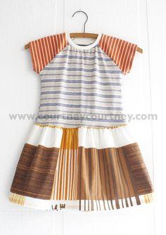 STRIPES #courtneycourtney #eco #upcycled #recycled #repurposed #tshirt #vintage #dress #girls #unique #clothing #ooak #designer #upscale  #fashion #stripes #mix #70s