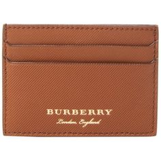 Burberry Men's Leather Card Holder - Cream/Tan (745 MYR) ❤ liked on Polyvore featuring men's fashion, men's bags, men's wallets, mens leather credit card holder wallet, mens leather card case wallet, mens wallet, mens credit card holder wallet and mens leather wallets