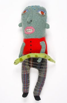 """Amy Arnold/Peepwool - """"Snakeboy"""" - from upcycled materials"""